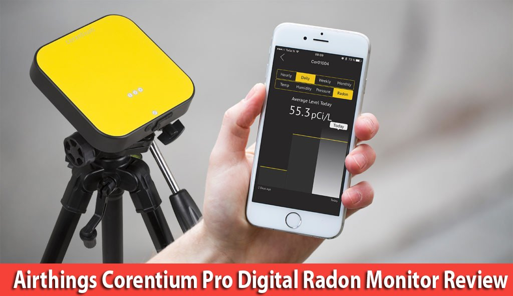 Airthings Corentium pro digital Radon monitor Review Best Radon detectors for commercial and professional use
