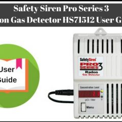 Safety Siren Pro Series 3 Radon Gas Detector HS71512 User Guide