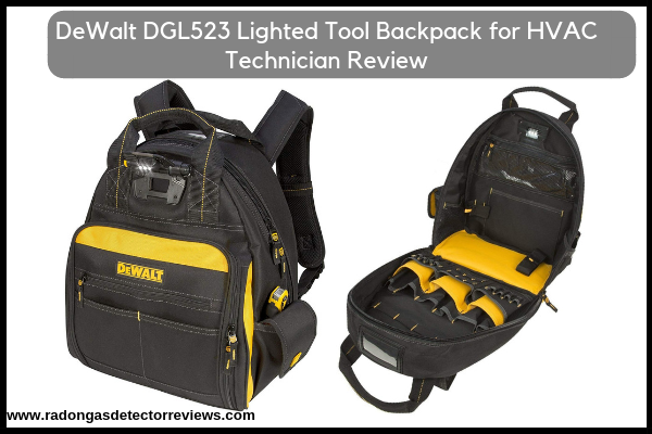 DeWalt DGL523 Lighted Tool Backpack for HVAC Technician