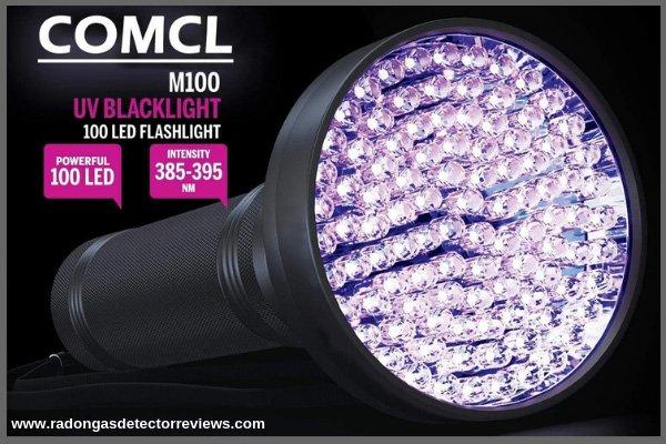 COMCL Blacklight Flashlight UV 100 LED - Black Light for Urine Detection Dog-Cat