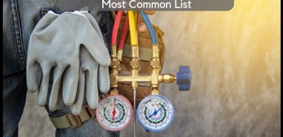 Different Types of Refrigerants: Most Common List