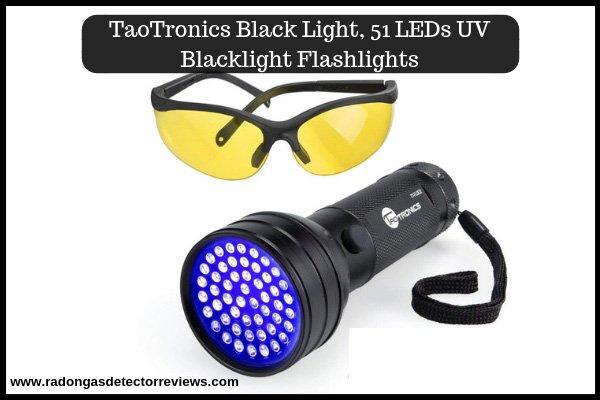 TaoTronics UV Flashlights 51 Ultraviolet Pet Urine Detector