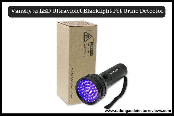 Vansky 51 LED Ultraviolet Blacklight Best Pet Urine Detector